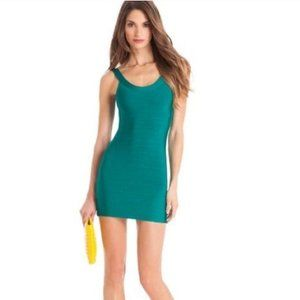 GUESS BY MARCIANO BODYCON TURQUOISE DRESS XS